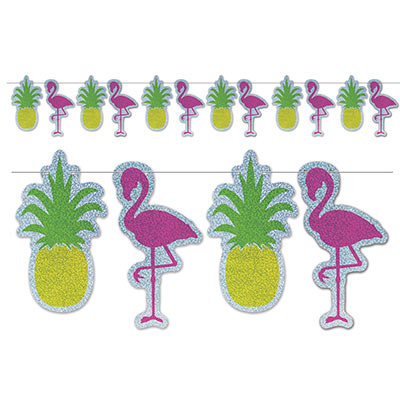 Flamingo & pineapple streamer