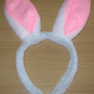 Fluffy rabbit ears on headband