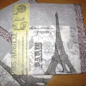 Paris themed napkins
