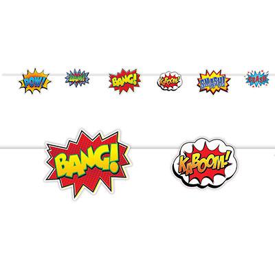 Superhero action sign banner
