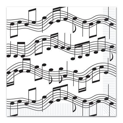 Music note napkins