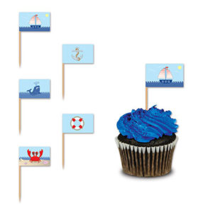 Nautical cake picks