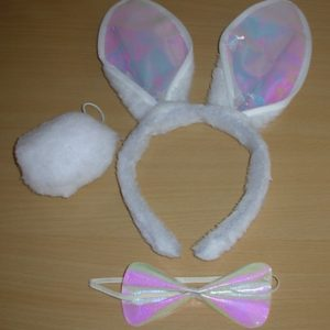 White rabbit dress up kit
