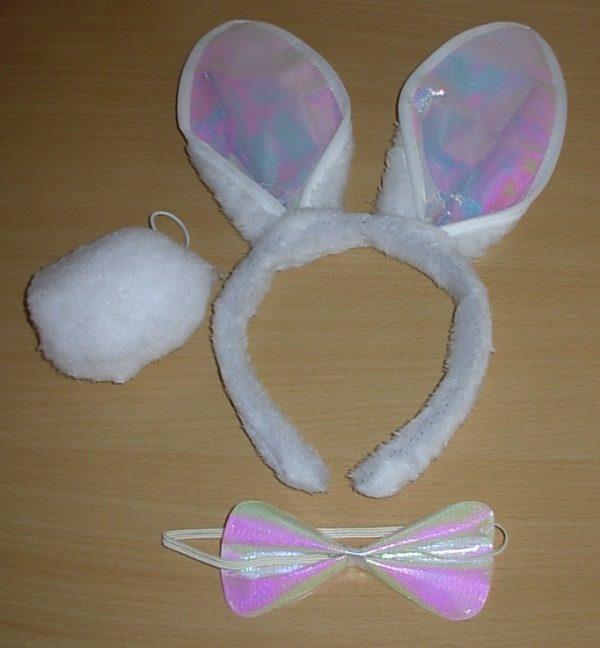 White rabbit dress up kit