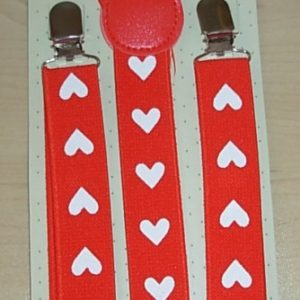 Valentine's day suspenders
