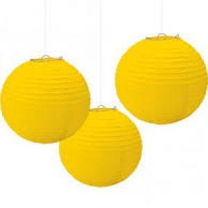 20cm paper lantern yellow