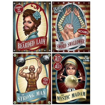 Vintage circus cutouts