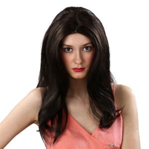 Long brown layered wig