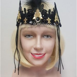 Deluxe flapper headdress