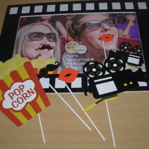 Movie reel photo frame