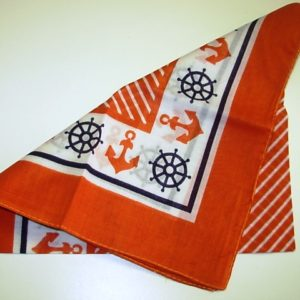 Red bandanna with anchor design