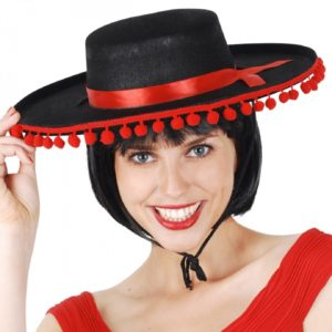 Spanish hat with red trim