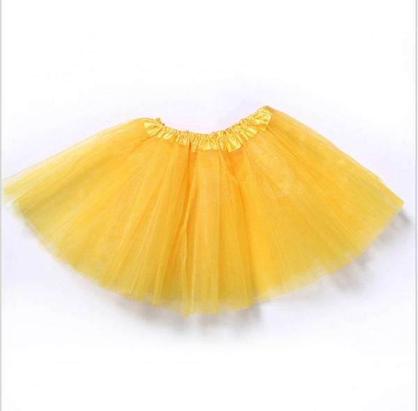 Yellow net tutu skirt