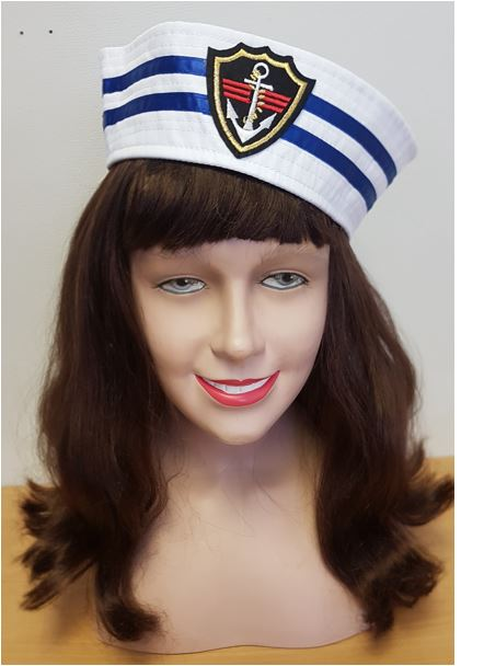 Sailor hat with blue stripes