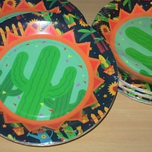 Cactus party plates