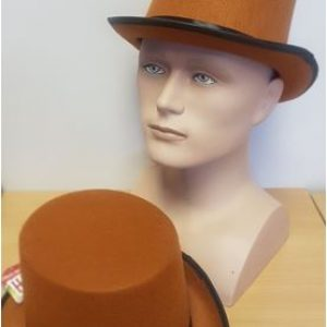 Brown tall top hat