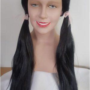 Black pigtail wig