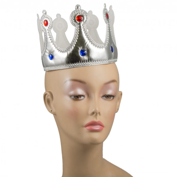 Fabric crown -silver