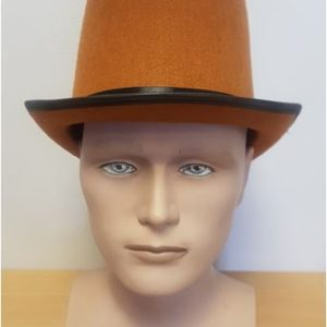 Tall brown top hat