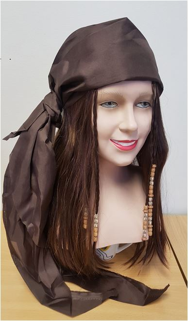 Brown pirate wig his or hers
