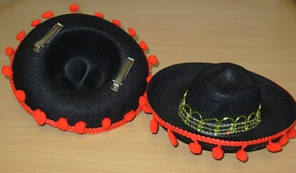 Small black Mexican hat