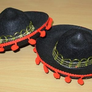 Mini black Mexican hat