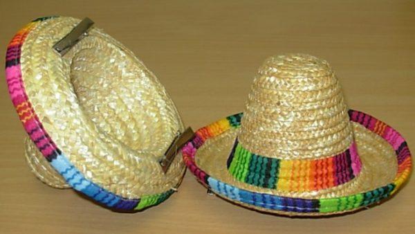 Mini clip on mexican hat