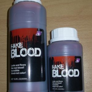 Bottles of fake blood