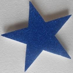Blue glitter star
