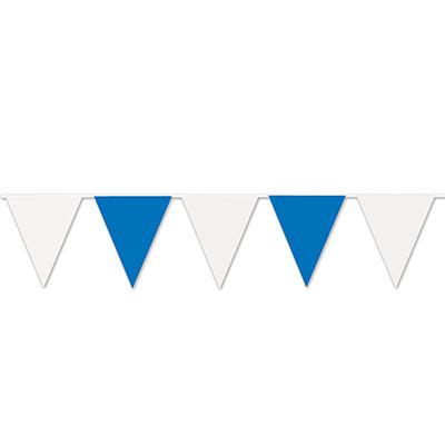 Blue & white pennant banner