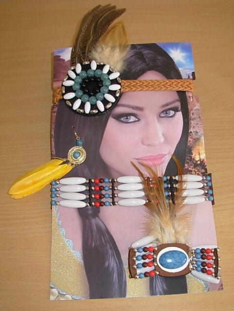 Red Indian dress up kit