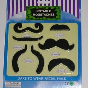 Stick on moustaches