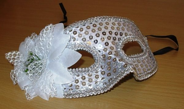 Silver sequin eye mask