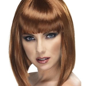 Glam bob wig brown