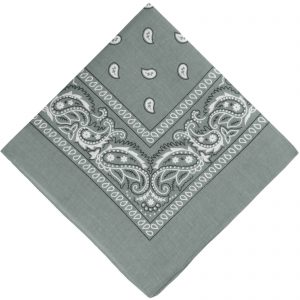 Light grey cowboy scarf