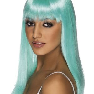 Straight wig with fringe jade