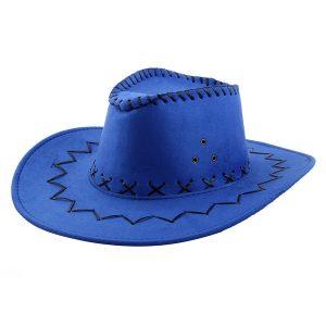 Blue cowboy hat