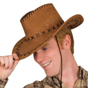 Rich brown cowboy hat