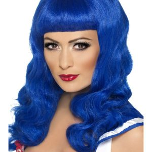 Blue sweetheart wig