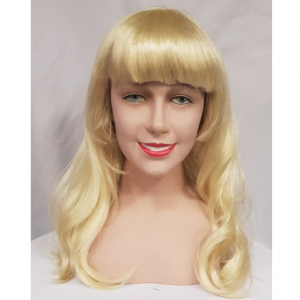 Blonde wavy wig with fringe