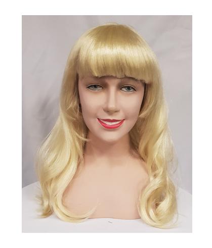 Blonde wavy wig with fringe