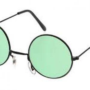 Green hippie glasses