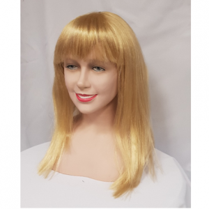 Honey blonde wig with fringe