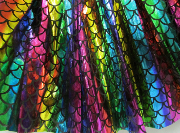 Mermaid print skirt