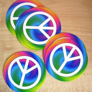 Peace sign coasters