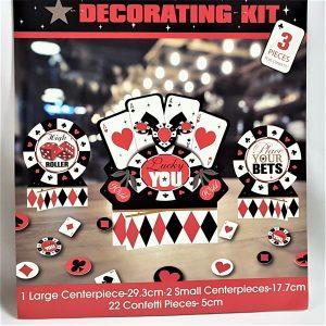 Casino decorating kit
