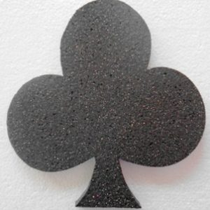 Polystyrene glitter clubs shape