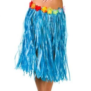 Blue Hawaiian grass skirt