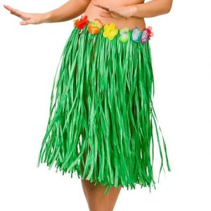 Green grass Hawaiian skirt