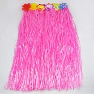 Hawaiian grass skirt pink